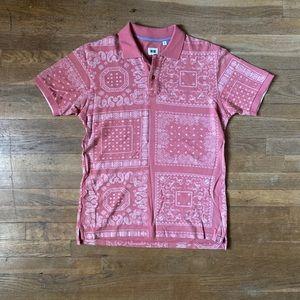 Uniqlo Bandana Print Polo Shirt Sz. M